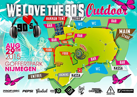 plattegrond We Love The 90's