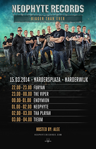 Timetable en laatste info Neophyte Records · Bigger Than Ever Tour (afbeelding)