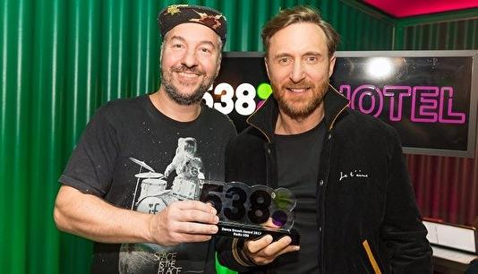 David Guetta ontvangt eerste 538Dance Smash Award (afbeelding)