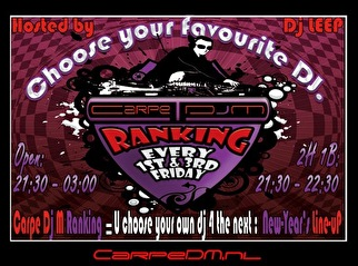 flyer Carpe DJ M Ranking