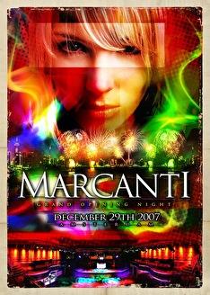 Marcanti grand opening night (flyer)