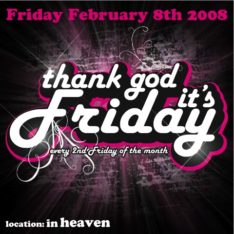 Thank God Its Friday 8 Februari 2008 Sinners Amsterdam Evenement