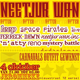 flyer Neetjur Wan afterparty