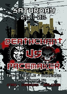 Deathchant vs Pacemaker (flyer)