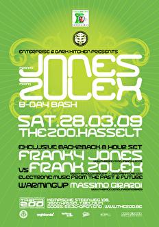 flyer Franky Jones & Frank Zolex b-day bash