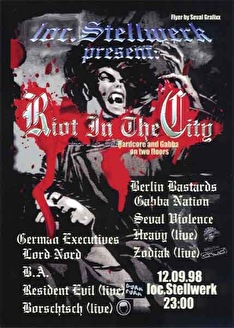 Riot in the city (flyer)