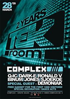 2 Years Tek Room (flyer)