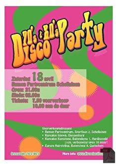 70's & 80's Disco Party (flyer)