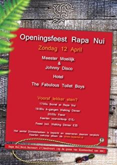 Rapa Nui openingsfeest (flyer)