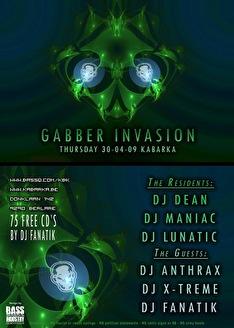 Gabber invasion (flyer)