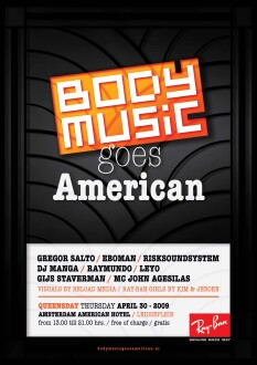 Body Music goes American (flyer)