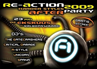 Re-action harder styles afterparty (flyer)