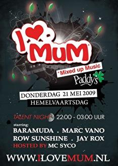I love MuM Talent night (flyer)