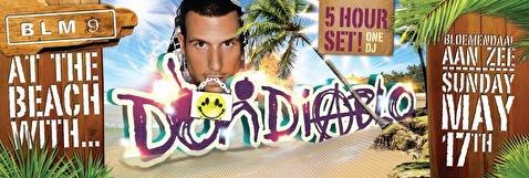 At the beach with Don Diablo (flyer)