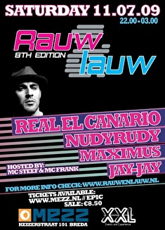 Rauw & Lauw Special Afterparty Breda Live (flyer)