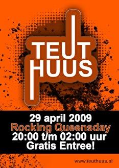 Teuthuus Rocking Queensday (flyer)
