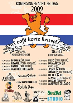 Café Korte Heuvel (flyer)