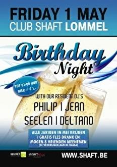Birthday Night (flyer)