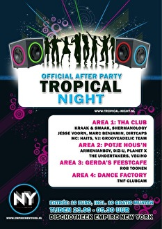 Official Tropical Night After Party (flyer)