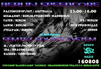 Berlin Speedcore & Semtex (flyer)