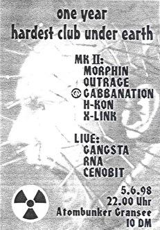 One Year Hardest Club Under Earth (flyer)