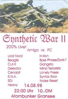 Synthetic War II (flyer)