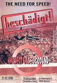 Beschädigt vs Hardest Underground (flyer)
