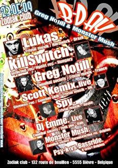 Greg Notill & Monster Mush Bday Party (flyer)