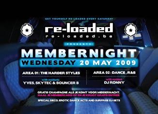 Reloaded member night (flyer)