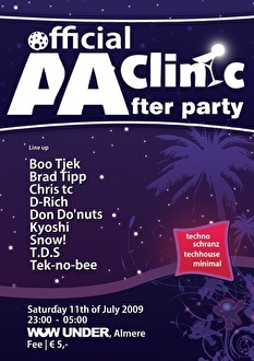 AA Clinic The official Afterparty (flyer)