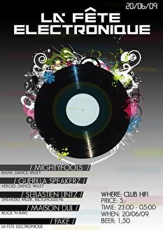 La Fête Electronique (flyer)