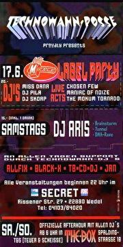 Mokum Label Party (flyer)