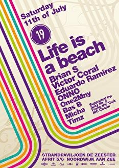 Life is a beach (flyer)