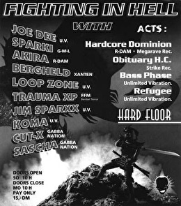 Fighting In Hell (flyer)