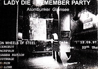 Lady Die-Remember Party (flyer)