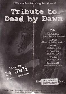 Tribute to Dead by Dawn (flyer)