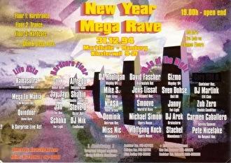 New Year Mega Rave (flyer)