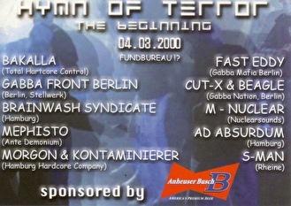 Hymn Of Terror (flyer)