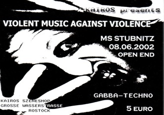 Violent Music Against Violence (flyer)