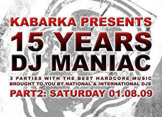 15 Years Dj Maniac (flyer)