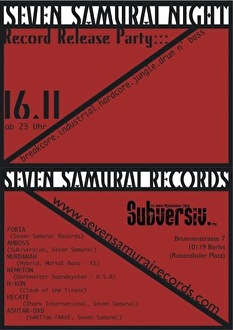 Seven Samurai Night (flyer)