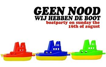 Geen nood, wij hebben de boot (flyer)
