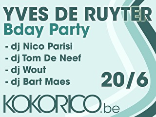 Yves Deruyter Bday party (flyer)