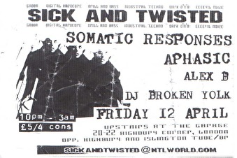 Sick & Twisted (flyer)