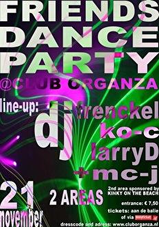 Friends dance party (flyer)