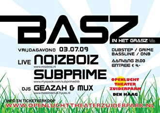 flyer Basz in het Grasz