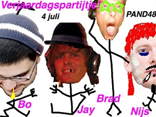 Bo, Nijs, Jay & Brad Birthday (flyer)
