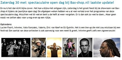Bax-Shop opendag (flyer)