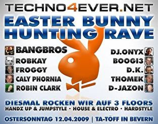 Easter Bunny Hunting Rave (flyer)