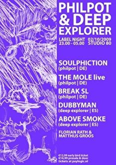 Philpot & Deep Explorer Labelnight (flyer)